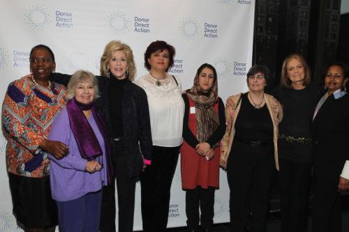 Nozizwe Madlala-Routledge, Robin Morgan, Jane Fonda, Mouna Ghanem, Najia Karimi, Gloria Steinem, Hibaaq Osman
