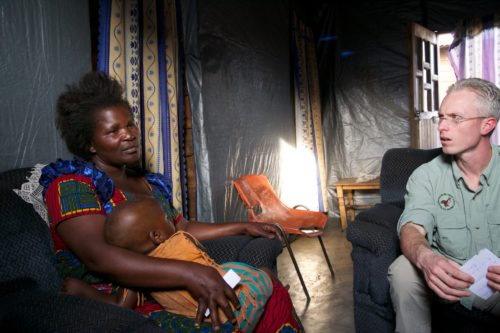 Jason Hackmann makes a dream come true for Congolese survivor Maman Rose