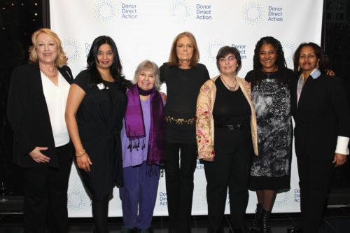 Jane Levikow, Lina Srivastava, Robin Morgan, Gloria Steinem, Jessica Neuwirth, Lynn Nottage, Hibaaq Osman