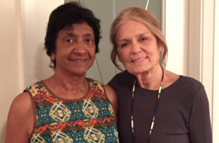 Navi Pillay and Gloria Steinem