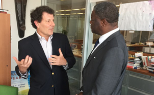 Nick Kristof and Dr. Mukwege
