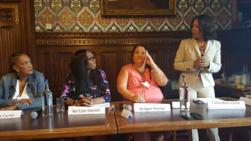 Some of the speakers at the Sex Trade Survivors Symposium held at the UK Parliament on 13 July 2016