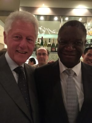 Dr. Denis Mukwege (right) meets with former President Bill Clinton
