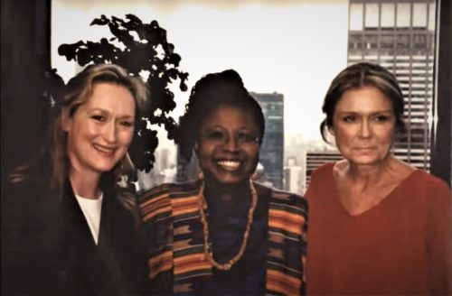 Efua Dorkenoo, Meryl Streep, and Gloria Steinem