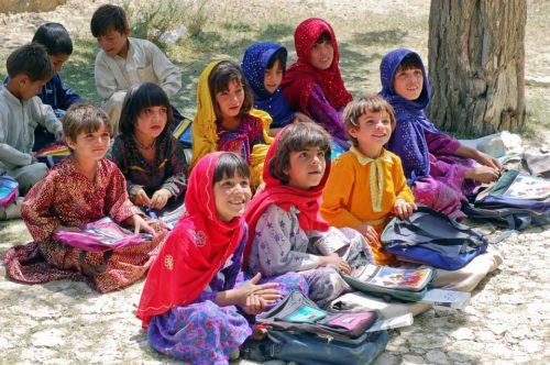 Afghanistan school girls at HAWCA