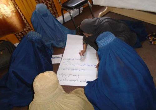 HAWCA- Courage cannont be suppressed- women forced to wear burka attend an equal rights workshop